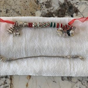 Brighton bracelet and Christmas charms